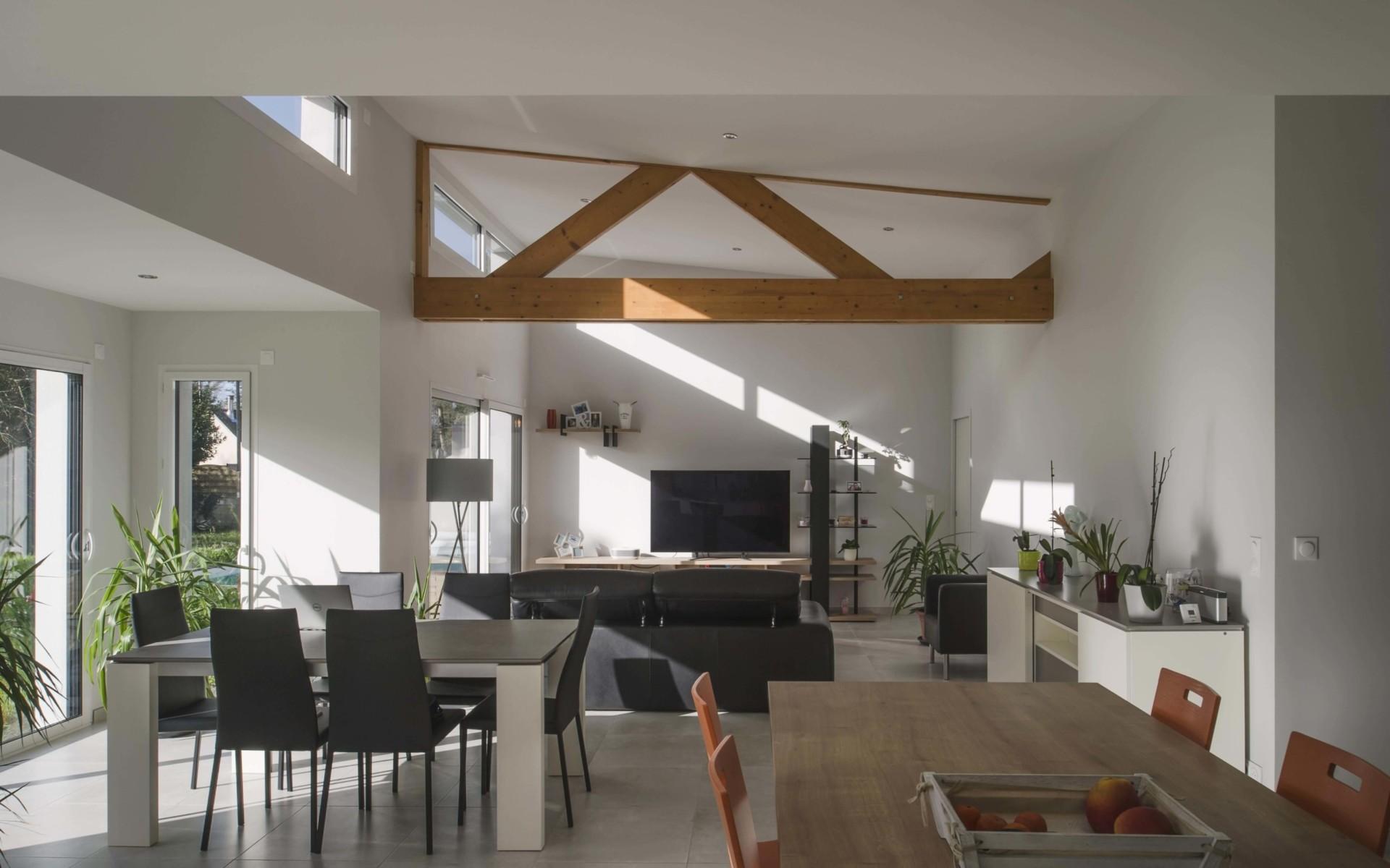 TENDANCES MAGAZINE Magazine Deco Maison Vue Interieure Maison Design Grandchamps Des Fontaines 44 Berthelot Constructions
